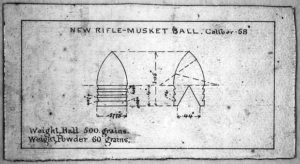 Minié ball diagram