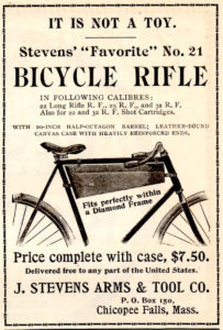 """Stevens """"Bicycle Rifle"""" Ad"""